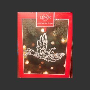 Lenox Sparkle And Scroll Dove Ornament New!